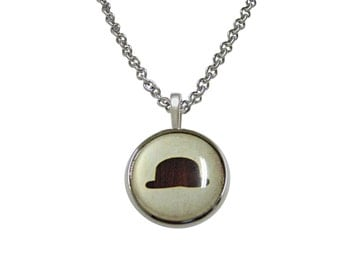 Bowler Hat Pendant Necklace