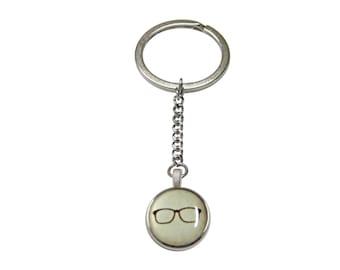 Hipster Glasses Pendant Keychain