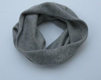 Scottish/UK spun 100% cashmere snood (ring scarf)