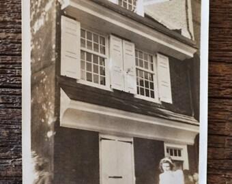 Original Antique Photograph Betsy Ross Home in Philadelphia 1946