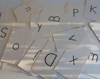 Vintage Alphabet SIGHT cards