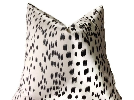 Les Touches Brunschwig and Fils Print, Black Throw Pillows Decorative Throw Pillows Covers, Black and Cream Pillows