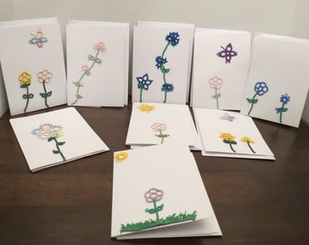 Handmade Tatted Lace Cards