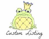 Custom headboard, bed skirt, and pillows for cr318201