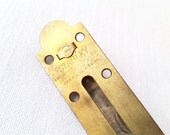 Antique Carpenters Level Bubble Sight Gauge and Brass Plate - 1896 Patent - Stanley Brass Plate - Level Bubble Measuring Tool - Vintage Tool