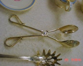 Silver Salad Tongs French Cottage Country Farmhouse Chic