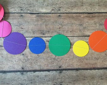 Rainbow Paper Garland - Rainbow party garland - rainbow party - rainbow decor - party supplies - party garland - garland bridal