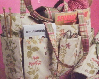 Butterick Pattern B5006, Sewing Pouch, Pin Cushion, Knitting Needle Case, Crochet Hook Case, Round Knitting Needle Case, Tote