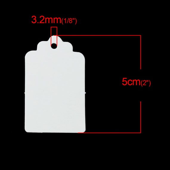 10pcs white paper label price tags 50x30mm packaging for Price tags for craft shows