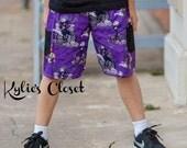 Nightmare Before Christmas Themed Boys Shorts - Jack Skeleton - Licensed Fabric - Gift for Son - Gift for Grandson - Summer Shorts
