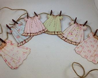 Vintage Paper Doll Dress Banner Garland
