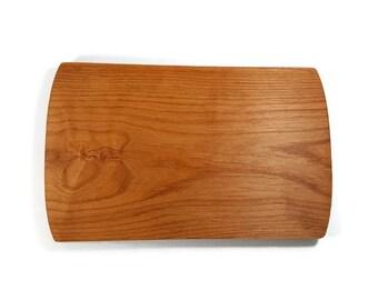 Alder Wood Cutting Board 13 x 8 in.  Oregon Harvested Alder Wood.  Alder Wood Cheese Board.  Alder Wood Serving Board.  Hardwood Bread Board