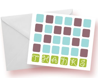 CLEARANCE: Thank You Squares Notecards--Set of 10