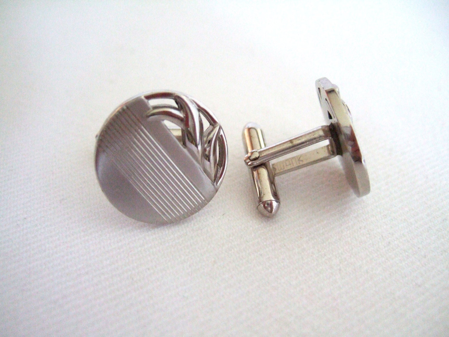 Swank silver tone cufflinks vintage jewelry off the cuff gifts for What is swank jewelry