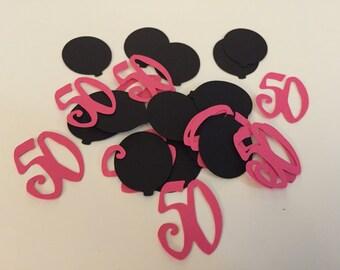 50th birthday confetti, balloon confetti, number confetti, birthday confetti (100 pieces)