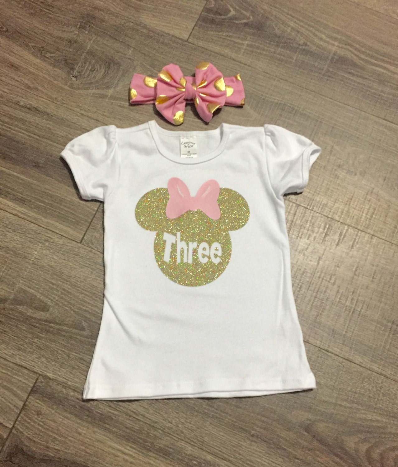 FREE SHIPPING Girls 3rd Birthday Outfit Minnie Mouse