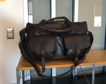 Leather Luggage Bag,Leather Travel Bag,Travel Duffle Weekend Bag For Men, Mens Accessories,Rustic Retro Bag