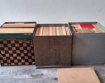 Vintage Wooden building set,
