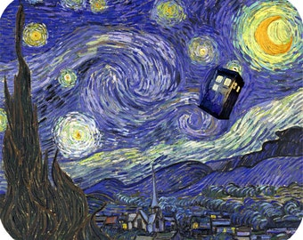 Doctor Who: Van Gogh TARDIS Mouse Pad
