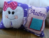 Toothfairy Pillow-Personalized Girl with Bow