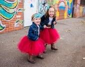 Custom Handmade Baby Girls Tulle Tutu Skirt