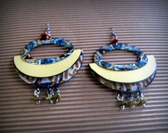Repurposed 3D Afrocentric photo Earrings