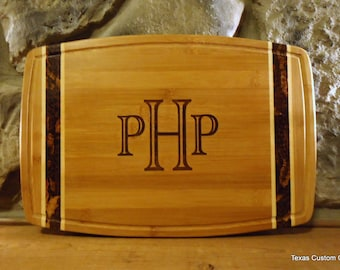 Personalized Cutting Board, Laser Engraved Cutting Board, Monogrammed Cutting Board, Weddings, Showers, Mother's Day, House Warming Gift