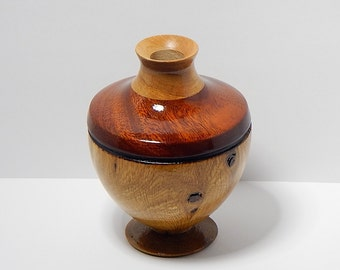 "Vase of Mesquite, Padauk, and Cherry Woods - 4.5"" X 3.25"""