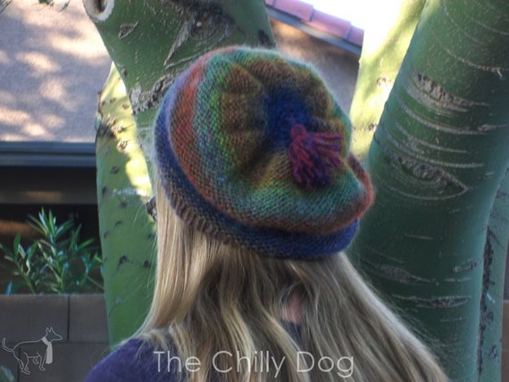 Wildflower Slouch Beanie - Knit Pattern PDF