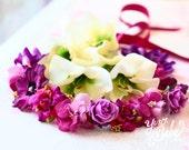 purple baby flower crown, baby floral crown, purple flower crown, newborn headband, baby girl headband, girls headbands, infant headbands