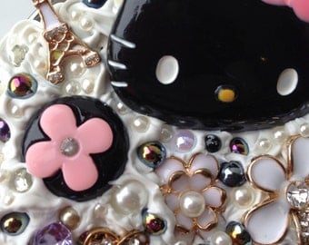Super blingy Hello Kitty decoden kawaii jar