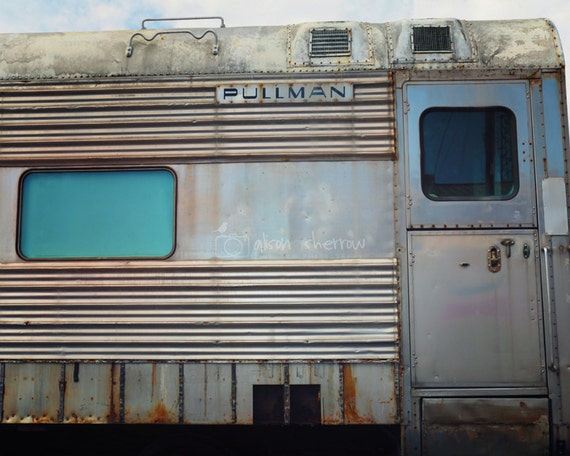 Vintage Train Decor Industrial graphy Retro Home by