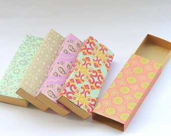 Large sliding box, Chocolate box, Match box, Gift box, Packaging box size 8 x 3 x 1 inch -10 Indian print match box