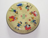 Vintage George W. Horner Round Nursery Rhyme Candy Tin