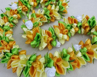 Spring flesh ribbon lei