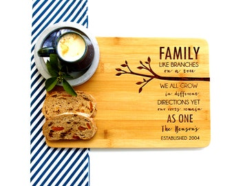 Personalized Cutting Board, Custom Cutting Board, Housewarming gift, Family Branch
