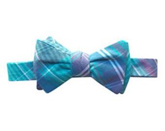 Blue and Purple Plaid Fabric