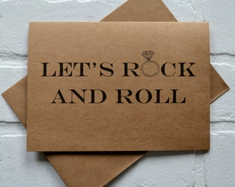 Let's ROCK and roll bridesmaid card will you be my bridesmaid funny card funny bridal card funny maid of honor card rock n roll wedding card