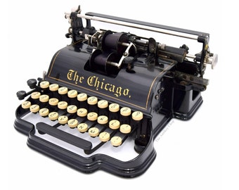 Antique ca.1900 Chicago No.1 Typewriter - Pin Stripe Model