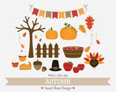 Autumn Clip Art, Fall Clip Art, Thanksgiving Clip Art, Royalty Free Clip Art, Instant Download