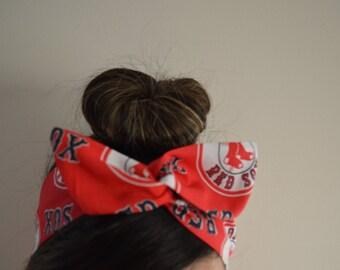 Boston Red Sox, headband, Dolly bow head bands, head band, hair bow