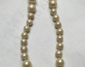 Vintage Judith McCann Creamy Pearl Necklace
