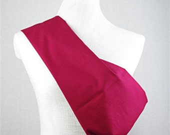 Linen Sling Pouch Baby Carrier - Made by Earthslings - Cranberry
