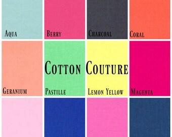 Michael Miller - 4 FAT QUARTER BUNDLE Cotton Couture (Pick your own colours)
