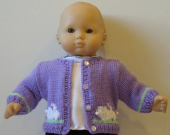 Bitty Baby Purple Easter Sweater