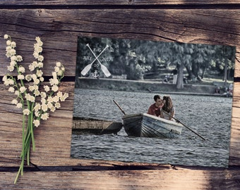 Save The Date Magnet or Card . Oars