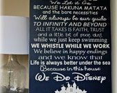 In This House We Do Disney // custom sign // painted sign // Disney sign