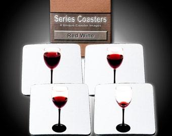 Red Wine - 4 Storytelling Coasters