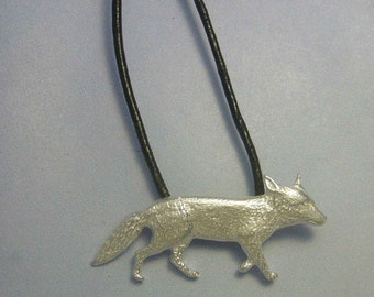 Fox pendant amulet 925 sterling silver necklace charm