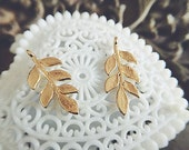 6 pcs raw brass  plating gold leaf   pendant finding
